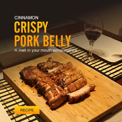 Cinnamon Crispy Pork Belly Roast