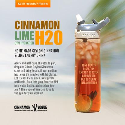 Cinnamon Lime Gym Hydration   Cinnamon Vogue