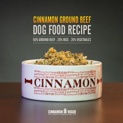 Cinnamon Ground Beef Dog Food Recipe